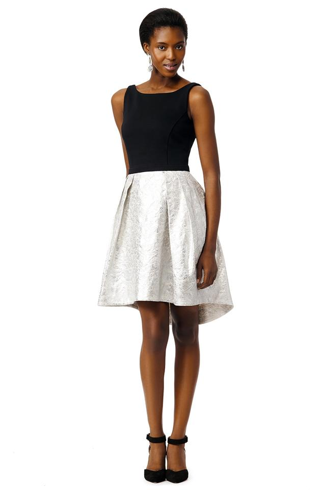 Slate Willow Black Silver And Perception Mid Length Cocktail Dress