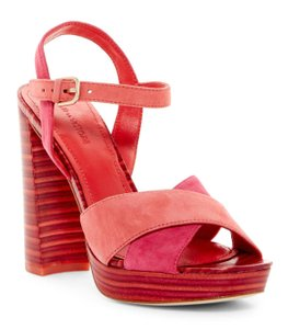 Anthropologie Two-tone Suede Ankle Strap Plateform Sold 70s Inspired NIB Flame Sandals
