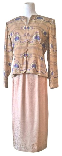 Preload https://item4.tradesy.com/images/adrianna-papell-1980-s-vintage-silk-women-s-skirt-suit-size-12-l-2279663-0-0.jpg?width=400&height=650
