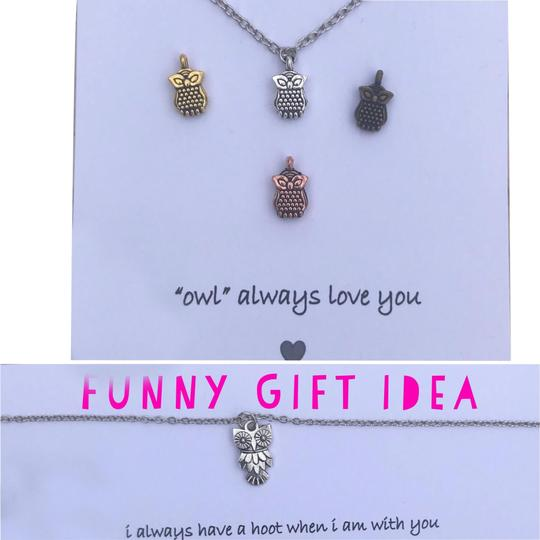 Preload https://img-static.tradesy.com/item/22796671/gold-silver-brass-copper-funny-best-friend-gift-owl-birthday-gift-for-friend-necklace-0-4-540-540.jpg