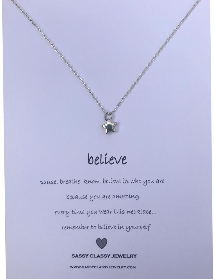 Silver Best Friend Star Gift Encouragement Message Necklace Tradesy