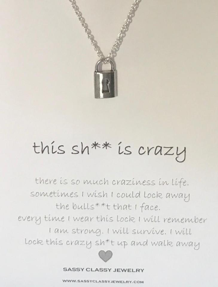 Sassy Classy Jewelry Funny Best Friend Gift Censored Lock Necklace Birthday Idea Image 0