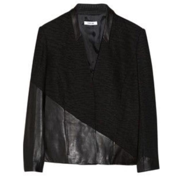 Helmut Lang Leather Detail Blazer Size 4 (S) Helmut Lang Leather Detail Blazer Size 4 (S) Image 1