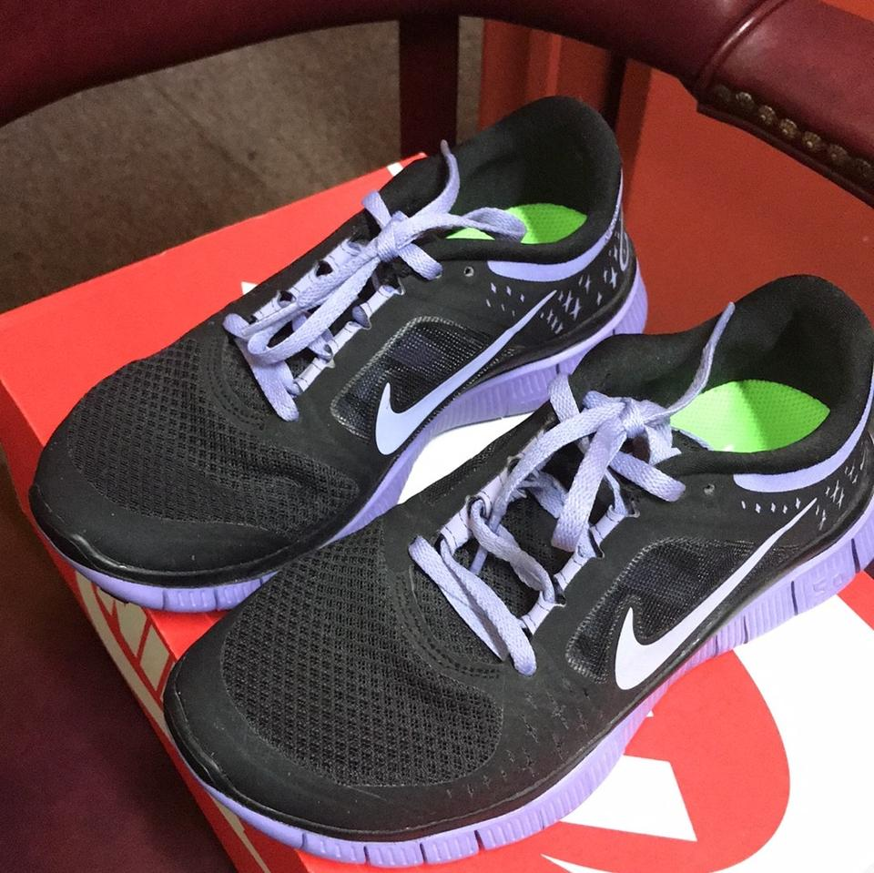 finest selection 4d065 931f3 Nike Black and Purple Free Run 3 Sneakers Size US 6 Regular (M, B) 65% off  retail