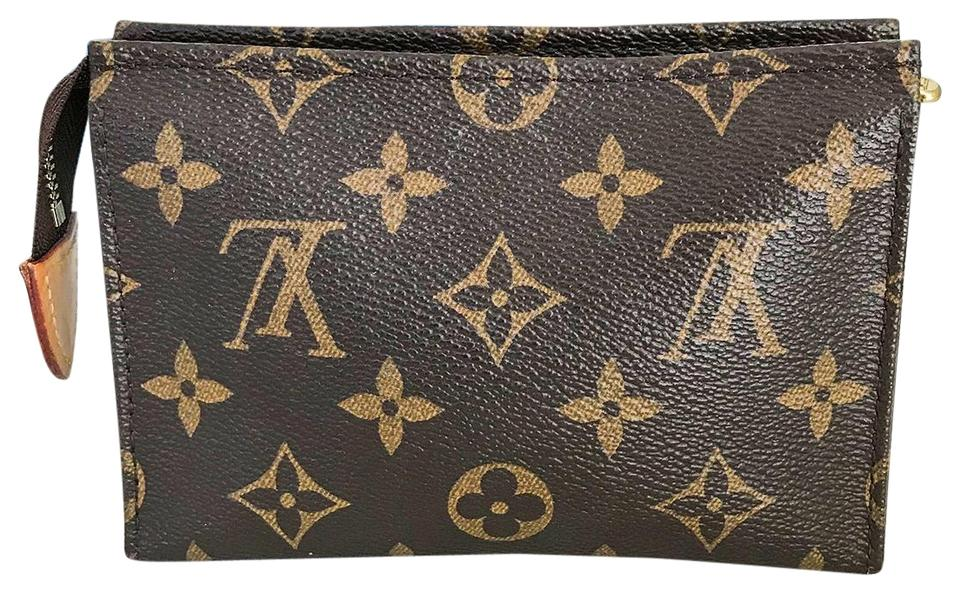 2f33bbb993d8 Louis Vuitton Brown Monogram Toiletry Pouch 15 Cosmetic Bag - Tradesy
