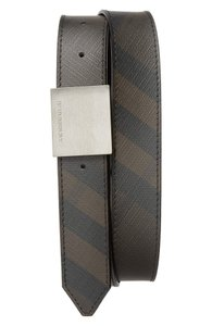 Burberry Smoked Check Lucius 33MM Plaque Belt; Size 42/105