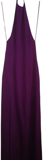 Item - Wine Halter Long Night Out Dress Size 2 (XS)