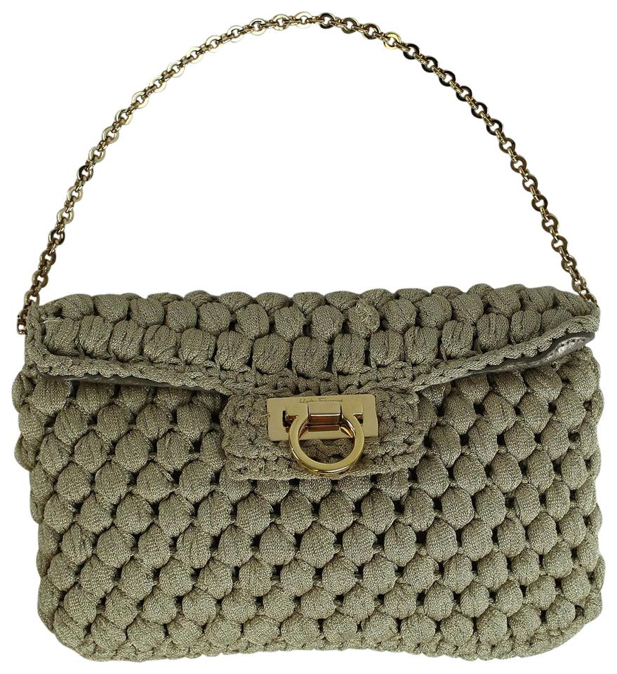 e17844506d1 Salvatore Ferragamo Braided Beige Crochet Leather Shoulder Bag - Tradesy