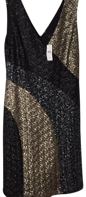 Preload https://img-static.tradesy.com/item/22797710/ann-taylor-black-charcoal-and-gold-sequin-mid-length-night-out-dress-size-12-l-0-1-650-650.jpg