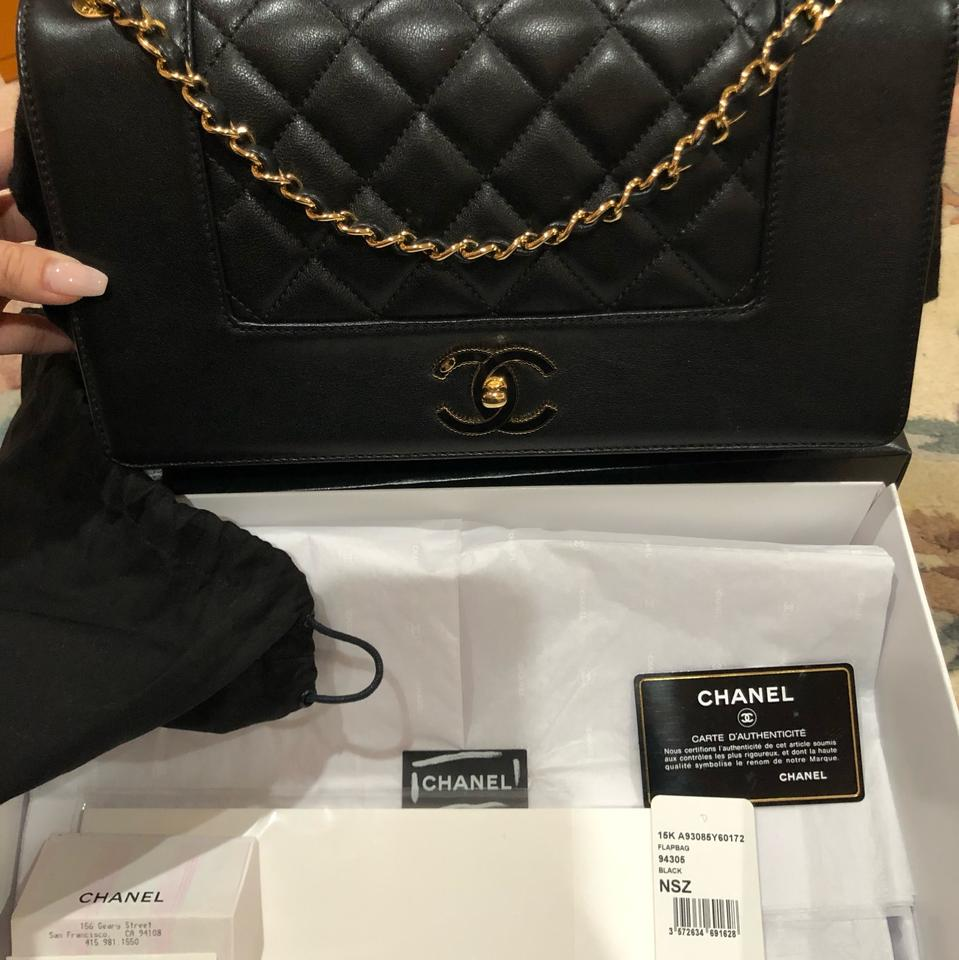 edd9690d70429d Chanel Mademoiselle Classic Flap Vintage Winter 2015 Black Grained  Sheepskin Leather Shoulder Bag - Tradesy