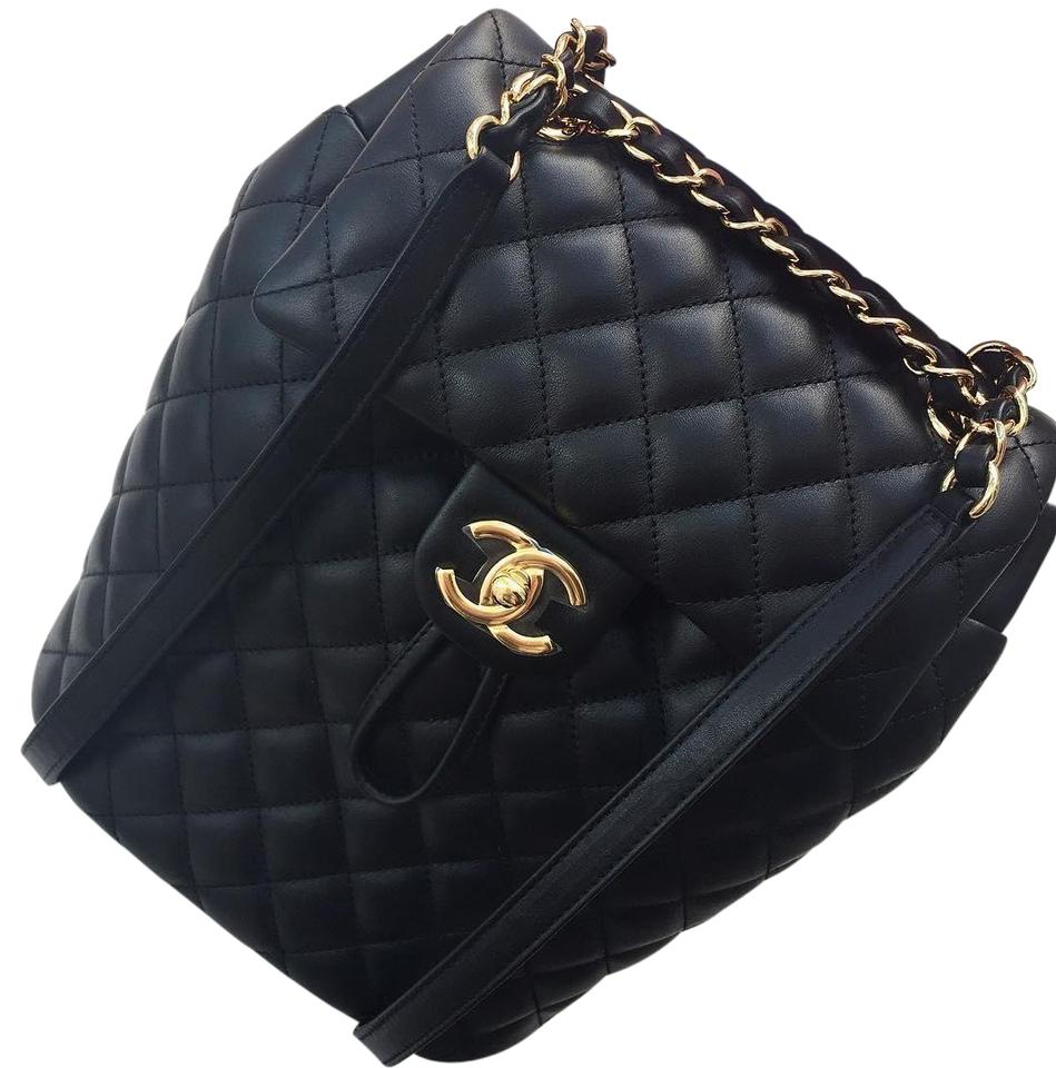 e4e53d51074f Chanel Urban Spirit Quilted Black Lambskin Leather Backpack - Tradesy