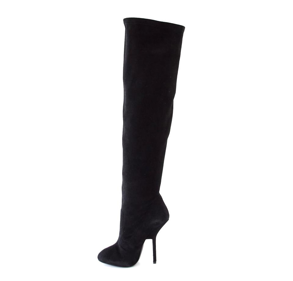 0875ec0923d91 Giuseppe Zanotti Over The Knee Suede Dramatic 37 / New W/ Box Boots ...
