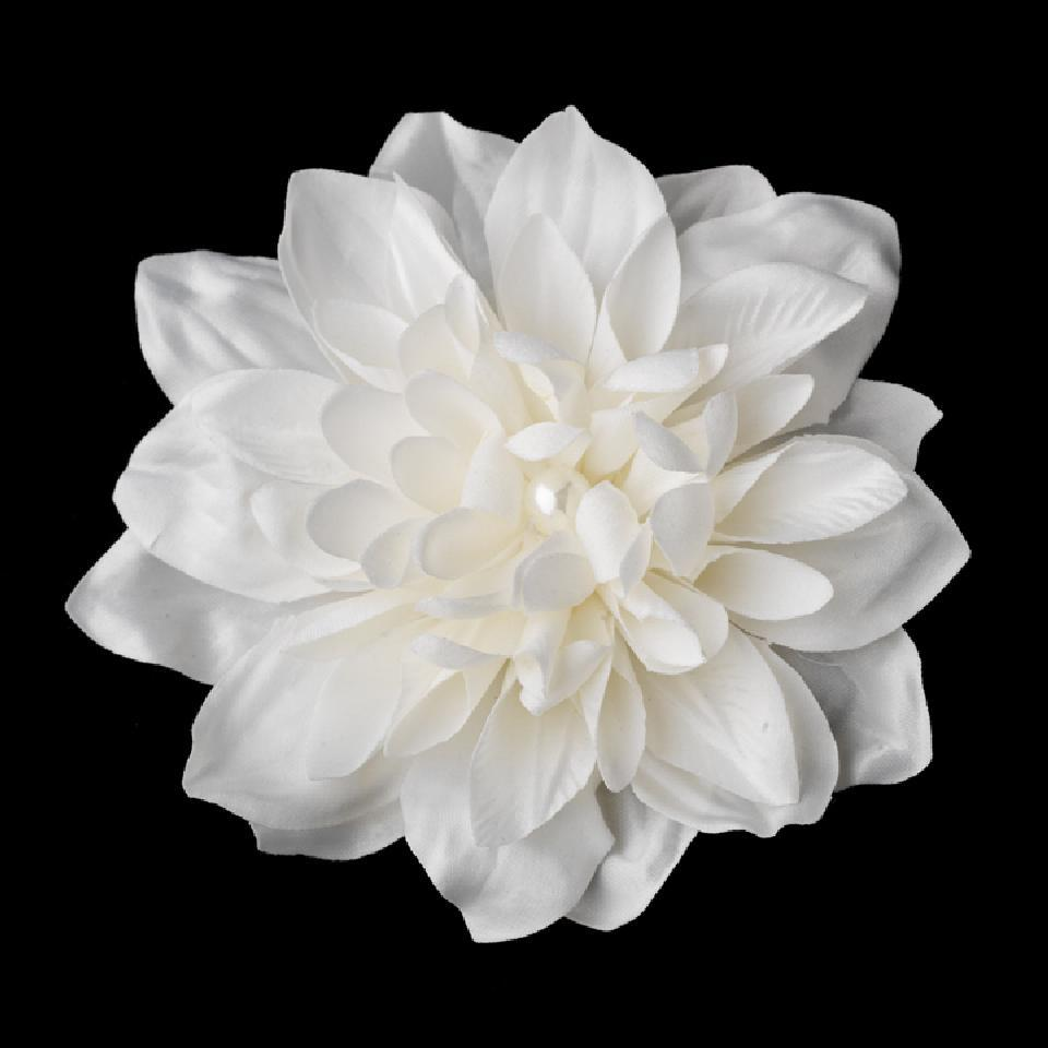 Elegance By Carbonneau Ivory Pearl Centered Flower Clip 402 Hair