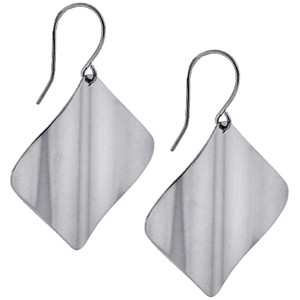 NY Collection Affordable Wave Design Dangle Drop Hook Earrings Steel Womens