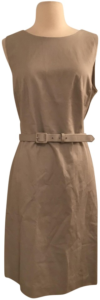 50bc9db0 J.Crew Cloud Grey Belted Sheath In Two-way Stretch Cotton Short Work ...