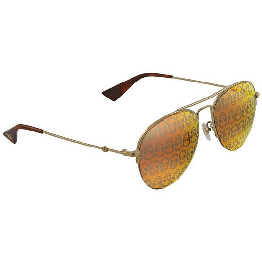 136e69c9c83ba Gucci Orange Mirror Skulls Aviator Unisex Sunglasses - Tradesy
