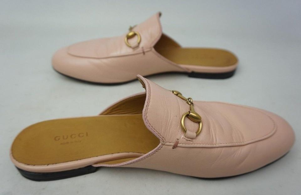 27750841802 Gucci Pink Women s Princetown Leather Loafer Mules Slides Size EU ...