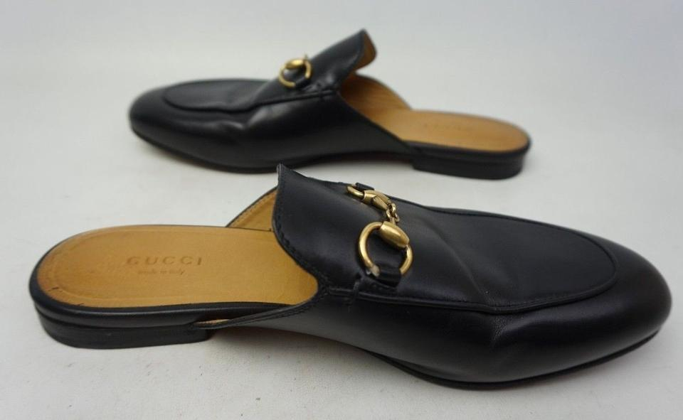 160aeba01c1 Gucci Black Women s Princetown Leather Loafer Mules Slides Size EU 38 ( Approx. US 8) Regular (M