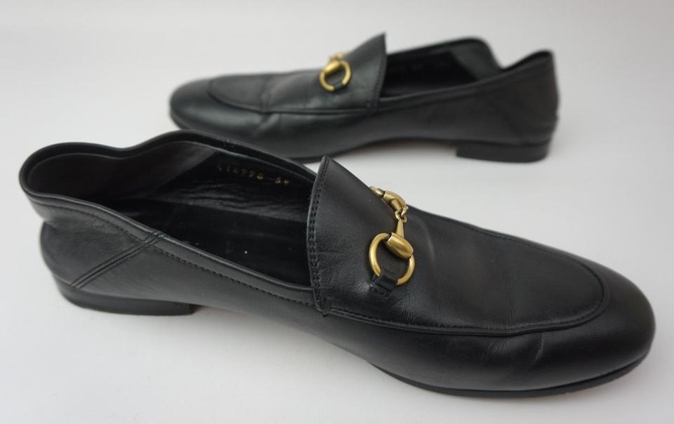 2d3b9eb1447 Gucci Black Brixton Convertible Loafer Women s Leather Flats Size EU 39  (Approx. US 9) Regular (M