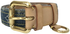 Louis Vuitton Denim Monogram Belt 90 36