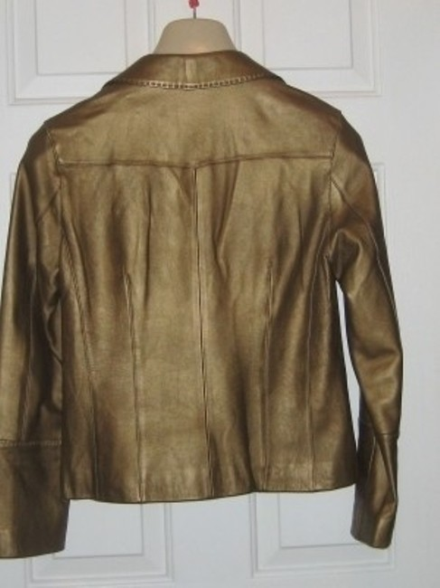CAbi Gold Leather Jacket