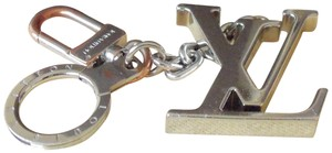 Louis Vuitton Louis Vuitton Initiales LV Key Holder Silver Keychain and Bag Charm