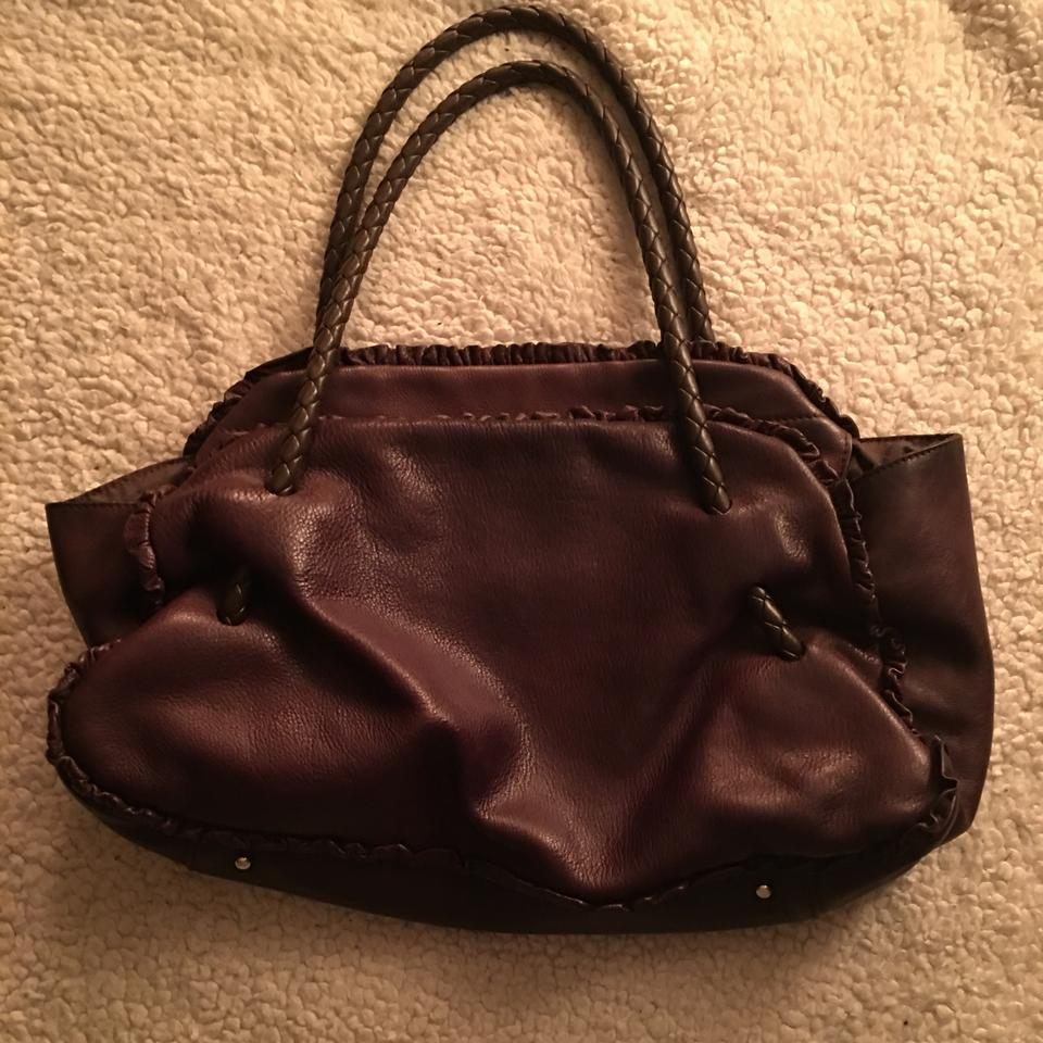 Chocolate Leather Braided Furla Tote Handle w0PqBZCn