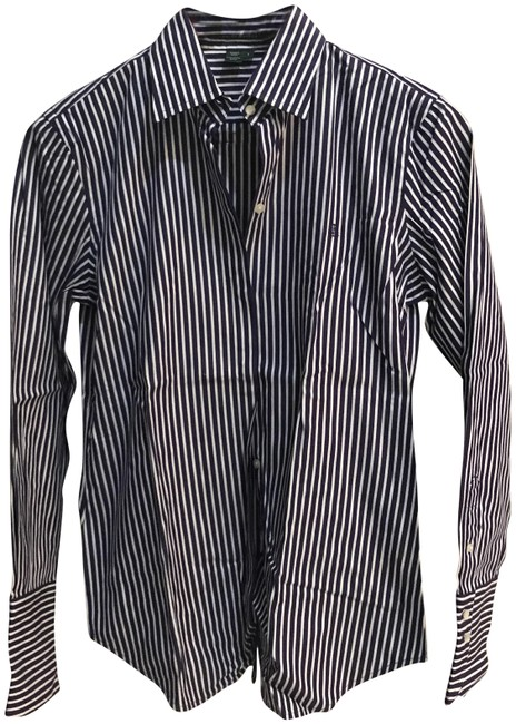 Preload https://img-static.tradesy.com/item/22799300/lauren-ralph-lauren-purple-and-white-cotrom-blouse-s-button-down-top-size-4-s-0-1-650-650.jpg