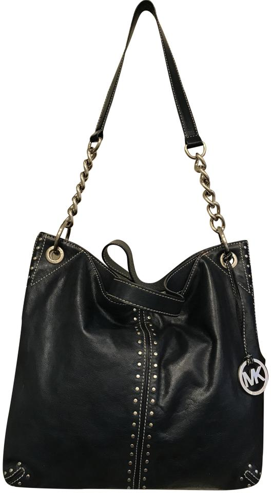 9edee6482ff081 Michael Kors Uptown Astor Studded Studs Stud Convertible New Navy Blue  Midnight Leather Tote