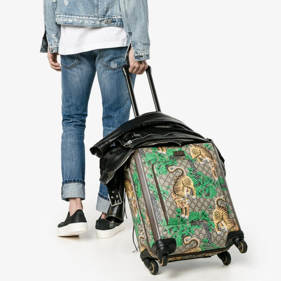 019da09c35a Gucci Carry On Gg Supreme Bengal Trolley Weekend Travel Bag - Tradesy