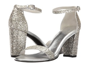 Stuart Weitzman Formal Bridal Heels Metallic Silver Sandals