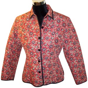 SilkLand Quilted Silk Red and Black Jacket
