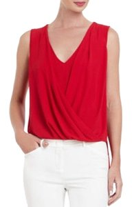 BCBGMAXAZRIA Top Rio Red
