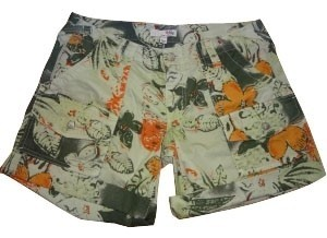 Joie Mini/Short Shorts Green and orange floral