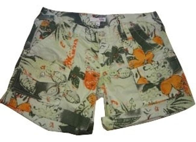 Item - Green and Orange Floral Shorts Size 6 (S, 28)
