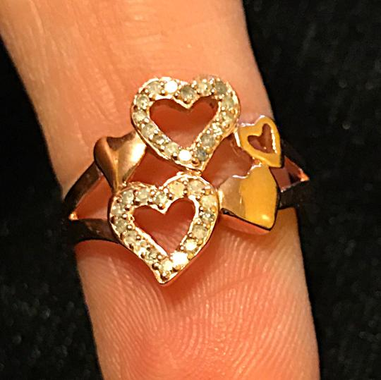 Other (.32ctw) diamond 14KT rose gold over 925 SS Heart ring