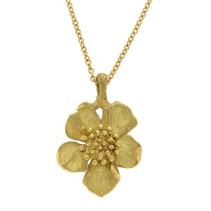 Tiffany & Co. Tiffany & Co. Vintage 18k Gold Wild Rose Dogwood Flower Necklace
