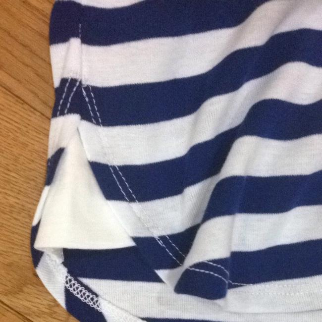 Jane and bleeker Navy White Stripe Beach Bathing Suit Coverup