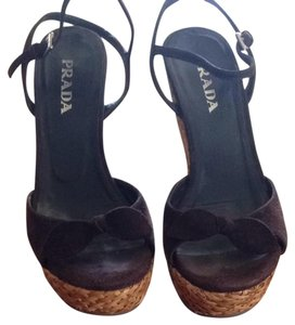 Prada Chocolate Brown Wedges