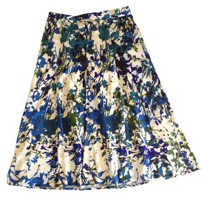Lafayette 148 New York A-line One Forty 8 Skirt blue, green, white, black