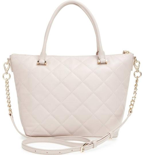 Kate Spade Gina Emerson Quilted Leather Satchel in Mousse Frosting