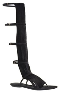 Gucci Suede Knee High Black 1000 Boots