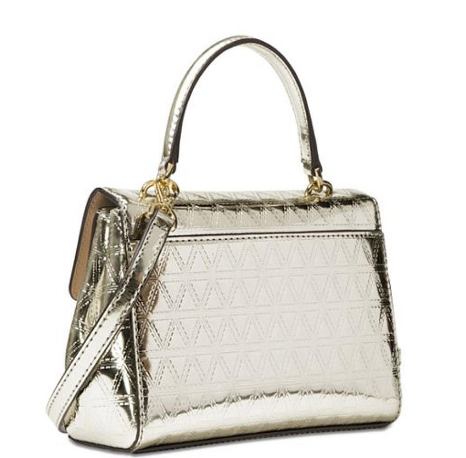 c4f225e8a8e0 Michael Kors Ava Quilted Gold Patent Leather Cross Body Bag - Tradesy