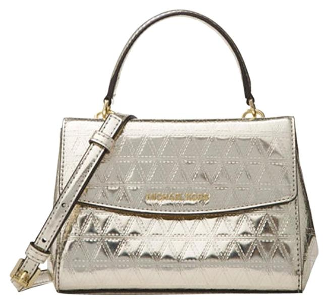 Item - Ava Quilted Silver Patent Leather Cross Body Bag