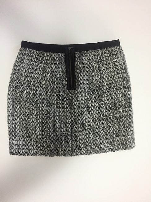 Rebecca Taylor Mini Skirt Black & Grey