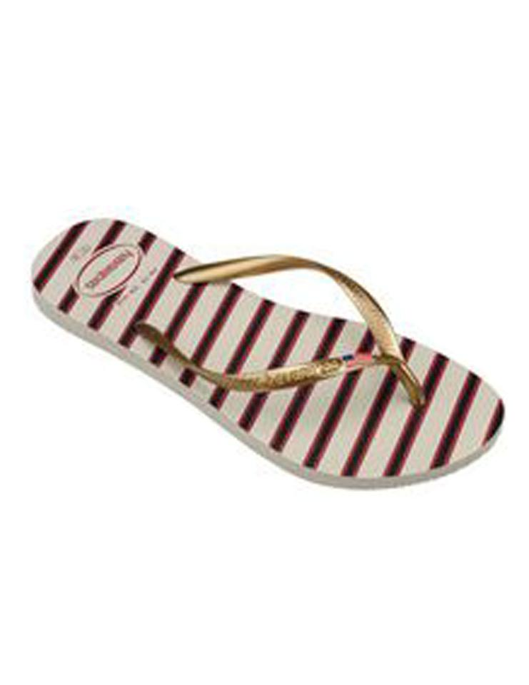 5796b50755f Havaianas Rose Gold Women s Top Americana Slim Flip Flop Flats Size ...