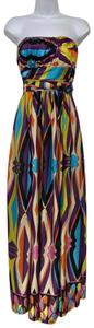 Multicolor Maxi Dress by Rubber Ducky Productions, Inc. Maxi