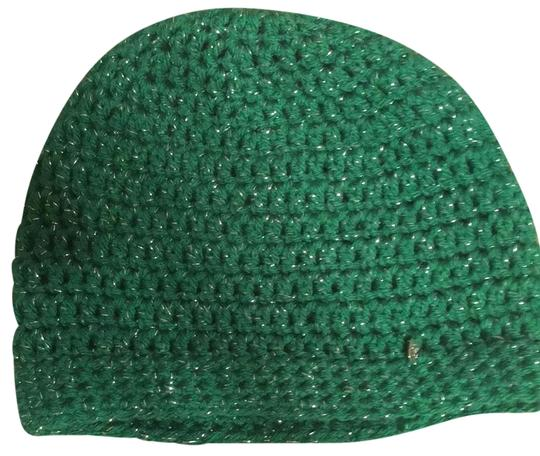 Preload https://img-static.tradesy.com/item/22801495/green-with-a-little-silver-crocheted-beanie-hat-0-1-540-540.jpg