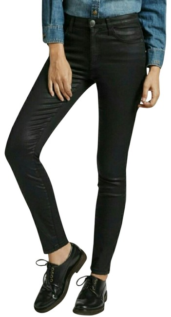 Preload https://item1.tradesy.com/images/currentelliott-black-coated-high-waisted-skinny-jeans-size-29-6-m-22801515-0-2.jpg?width=400&height=650