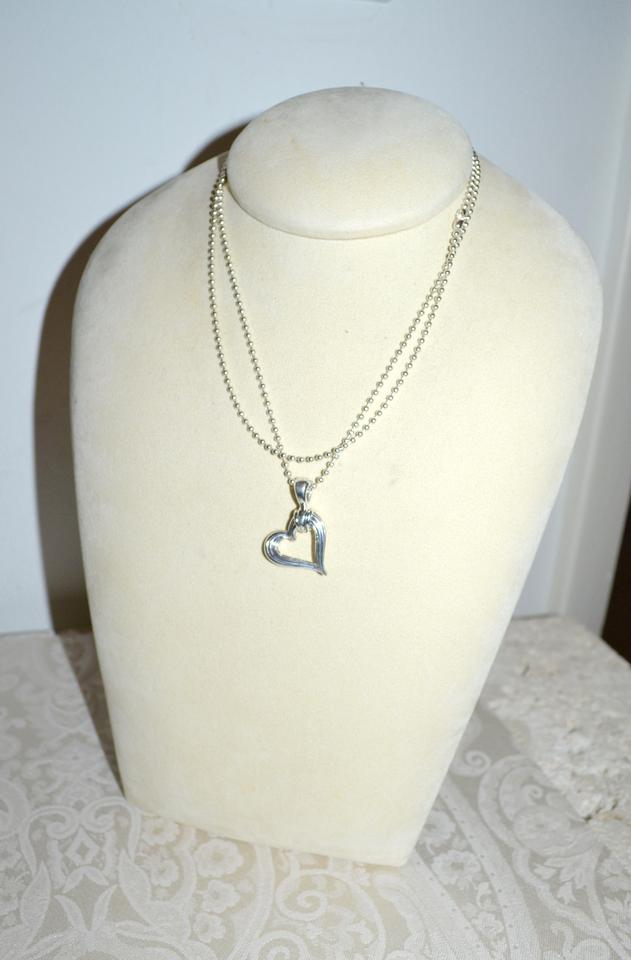 Lagos silver ss open heart pendant 34 beaded chain necklace tradesy 123456 mozeypictures Images
